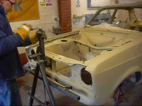 mk2mania rollover jig / car spit / chassis tilter / car roller escort mk2 restoration rotisserie