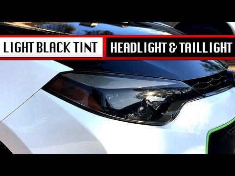 Light Black Tint Install - Headlight Taillight Corolla