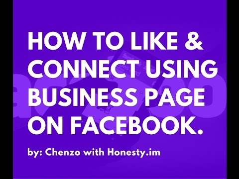 How to like other pages using business page on Facebook.
