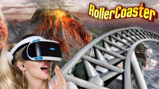 🔴 VR 360 Roller Coaster on Volcano Isle [VR VIDEO 360 Virtual Reality]
