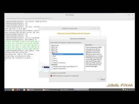 NetBeans 8.2 Installation in Fedora 27 Workstation Cinnamon