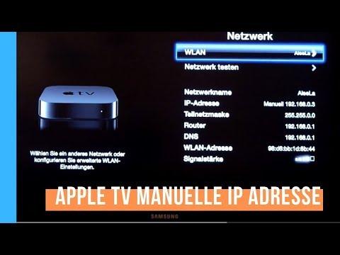 Beim AppleTV manuelle IP Adresse einstellen