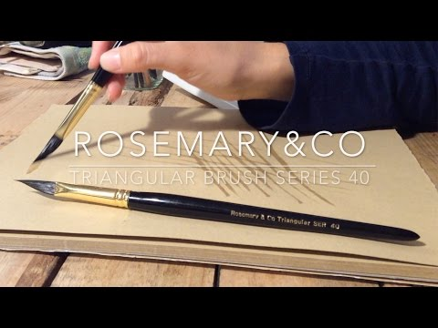 Watercolor Brush Review: Introducing Rosemary and Co's Triangle Brush