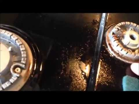Cleaning stove with WD-40
