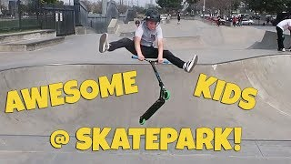 AWESOME KIDS AT SKATE PARK