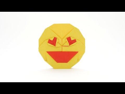ORIGAMI HEART EYES EMOJI 😍 (Jo Nakashima)