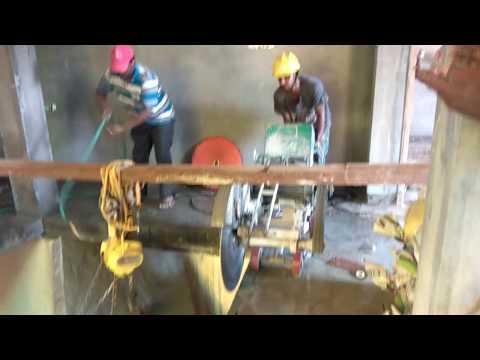 Ganmar RCC Concrete Slab Diamond Cutting work-Using Floor Saw Cutting machine 9841009229
