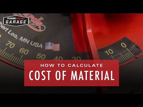 How To Calculate Cost Of Material