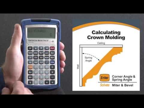 Construction Master Plus EZ Crown Molding Miter and Bevel Cuts How To