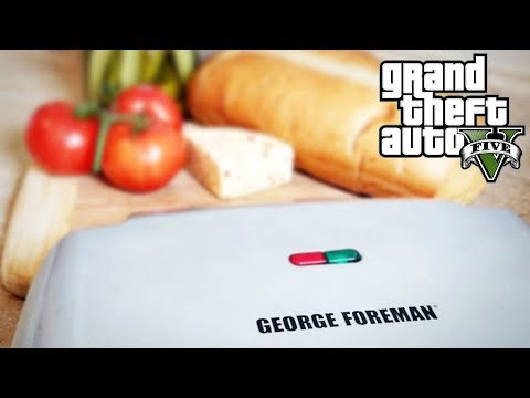 GRILLING WHILE PLAYING GTA 5?! FOREMAN FRIDAY #1