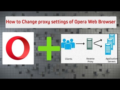 How to Configure proxy settings for Opera  Web Browser | TechSender™ | Tutorial |