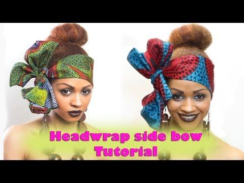 Beautiful African  Headband Side Bow Tutorial