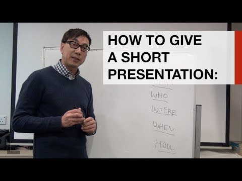 Learn how to give a 3 minute presentation in under 3 minutes