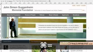 Dreamweaver CS5.5 HTML5 CSS3 tutorial build page from a comp using tracing image
