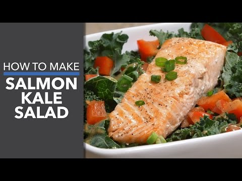How to Make Salmon Kale Salad