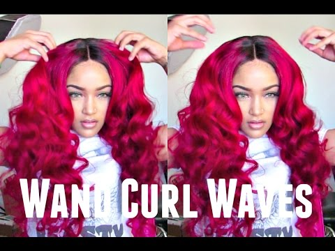 How to do wand curl waves | Aliexpress Queen King hair