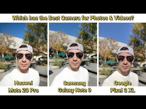 Pixel 3 XL (Fixed Audio) VS Huawei Mate 20 Pro VS Galaxy Note 9: Camera Video/Photo/Mic Test
