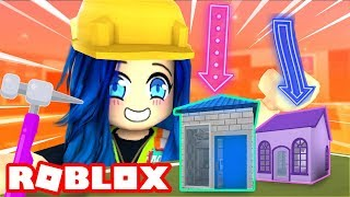 Building the SMALLEST house in Roblox Bloxburg!