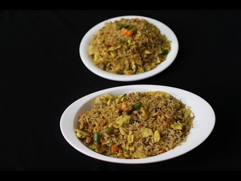 egg fried rice recipe spicy restaurant style-how to make egg fried rice