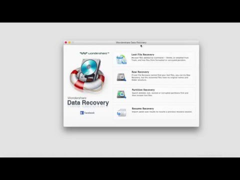 Accidentally Deleted, Lost or Formatted-Wondershare Data Recovery For Mac Get Back All