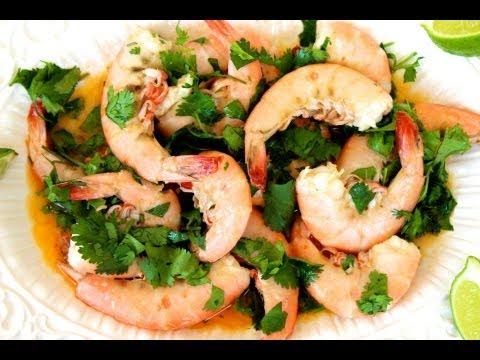 {Appetizer Recipe} Lime Cilantro Shrimp Recipe by CookingForBimbos.com