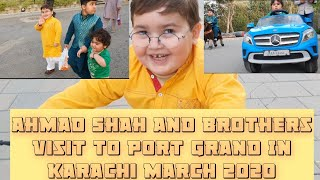 Cute Ahmad shah and brothers visit to Port Grand march 2020 part 1