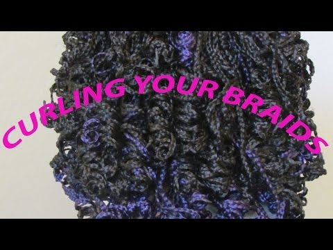 HOW TO CURL YOUR BRAIDS  l  7ANGELHAIR7