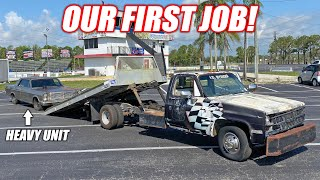 The Freedom Factory's ABANDONED Tow Truck Goes on Its First Job!!! Can it Actually Pickup a Car??