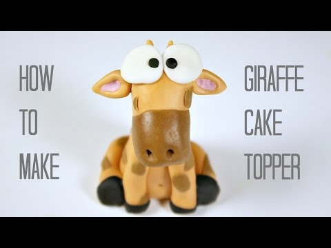 How To Make A Giraffe Cake Topper | Fondant Giraffe Tutorial | Creativity with Sugar