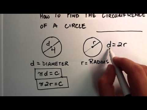 How To Find The Circumference The Distance Around The Outside Of A Ci