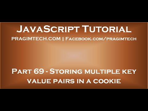 Store multiple key value pairs in a cookie