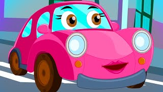look left | Car Cartoon Videos for Children | Safety Song | Learning for Babies