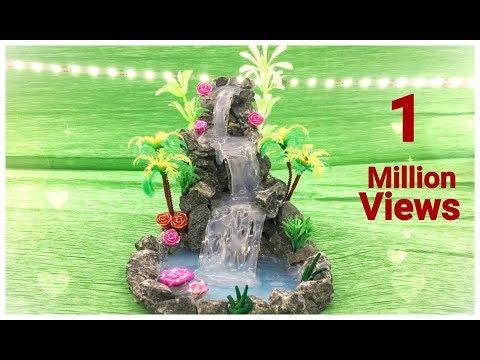 DIY : Hot glue waterfall (updated) || Miniature craft || Lets make Art