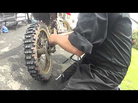 DIRT BIKE HOW TO REPLACE REAR BRAKE PADS CRF 150
