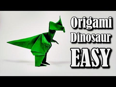 Origami Dinosaur Easy - Origami easy tutorial