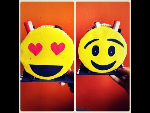 DIY   Emoji Pen Stand   Pencil holder   kids Craft