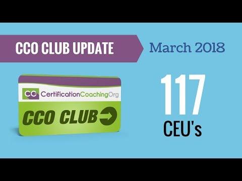 The CCO Club Update March 2018 -117 CEU's