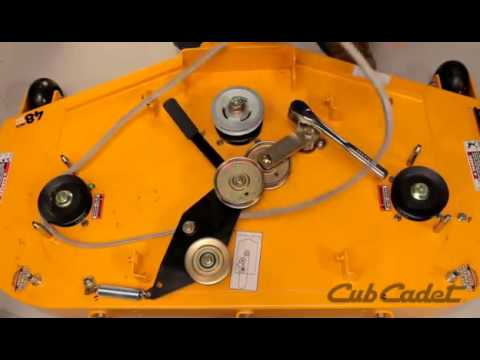 How to Change the Deck Belt on a Cub Cadet Zero Turn Riding Lawn Mower  Using Model 17AF3AGV010