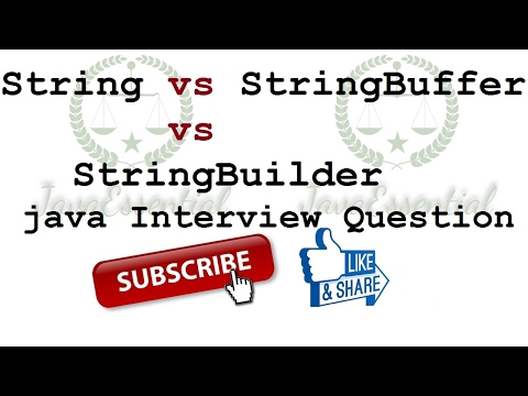 String vs StringBuffer vs StringBuilder in java - Interview Question