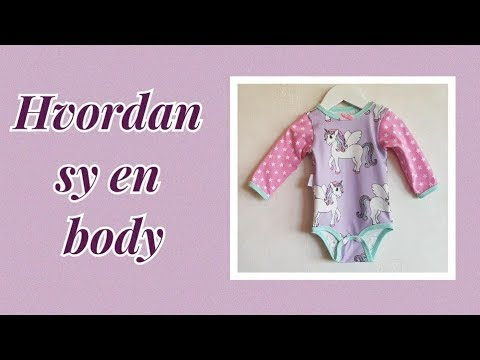 Tutorial Hvordan sy en body/ How to sew a baby onesie