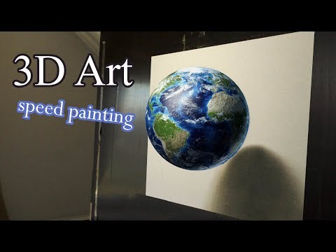 Planet Earth 3D painting/ SAVE OUR PLANET