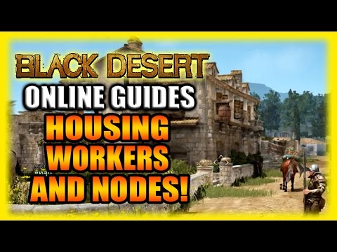 Black Desert Online Gameplay and Guides - Housing, Workers and Nodes! How to Get Started!