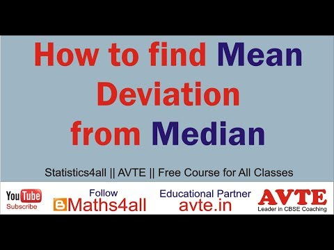 How to find Mean Deviation from Median || ALL SERIES || Statistics4all ||