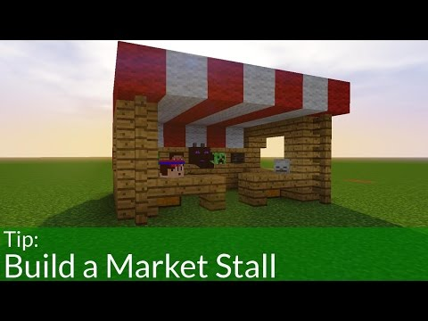 How To Build a Market Stall in Minecraft | PC, Pocket Edition & Console