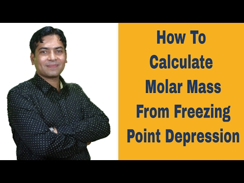 Calculating The Molar Mass Of An Unknown Compound From Freezing Point Depression