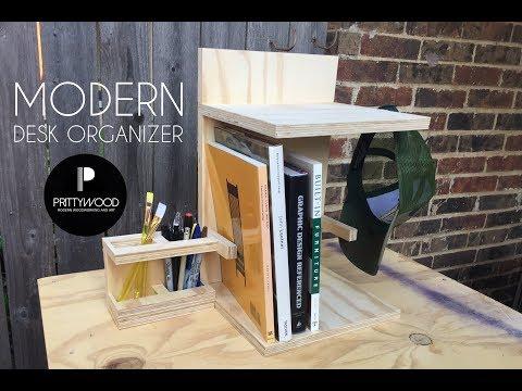 DIY Modern Desk Organizer / DIY Pencil Holder/Book Shelf