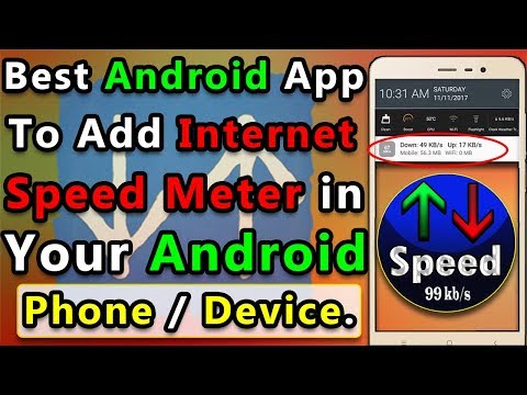 How To Add Internet Speed Meter in Any Android Phone/Device | In Hindi/Urdu |