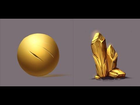 Materials - Gold - Paint tool Sai