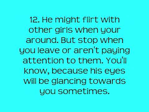 22 Signs that your crush likes you! ♥
