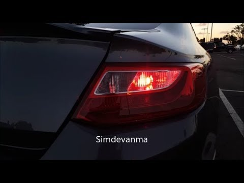 [Product Review and Demo] Simdevanma RED Led Turn Signal Bulb with Projector